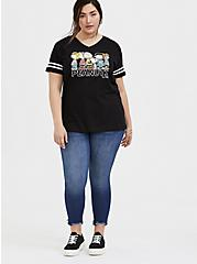 Plus Size Peanuts Charlie Brown & Snoopy Black Football Tee, DEEP BLACK, alternate
