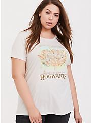 Harry Potter Hogwarts Letter Vintage White Crew Tee, CLOUD DANCER, hi-res