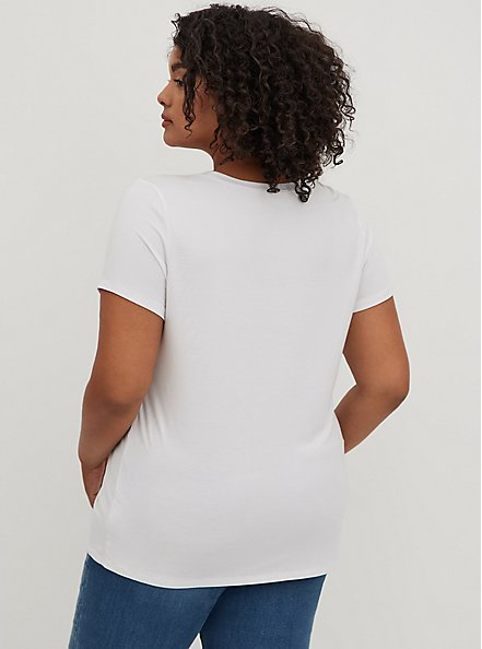 Plus Size Slim Fit Crew Tee - Super Soft White, BRIGHT WHITE, alternate