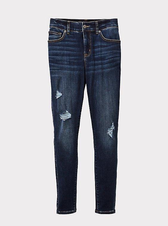 Plus Size Bombshell Skinny Jean - Premium Stretch Medium Wash, , flat