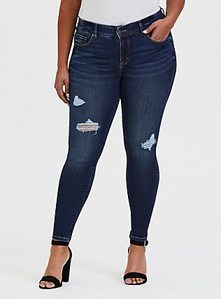Bombshell Skinny Jean - Premium Stretch Medium Wash, JINX, hi-res