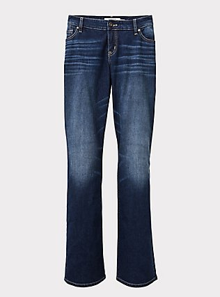 Relaxed Boot Jean - Vintage Stretch Dark Wash, PRIMO, flat