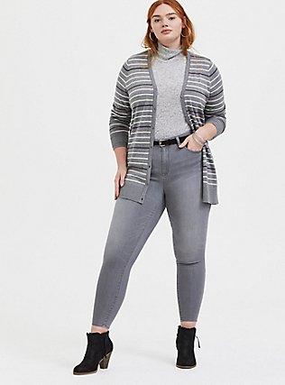 Sky High Skinny Jean - Super Soft Grey, SMOKE AND MIRRORS, alternate