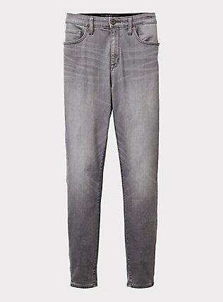 Sky High Skinny Jean - Super Soft Grey, SMOKE AND MIRRORS, flat
