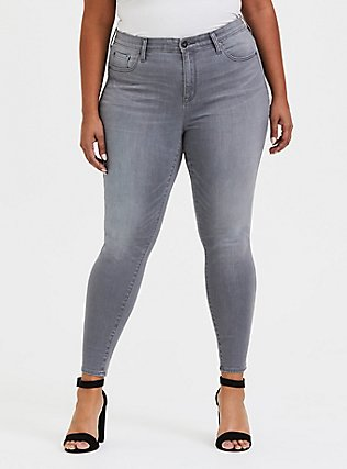 Sky High Skinny Jean - Super Soft Grey, SMOKE AND MIRRORS, hi-res