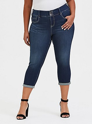 Crop Jegging - Premium Stretch Dark Wash, BATTERSEA, hi-res