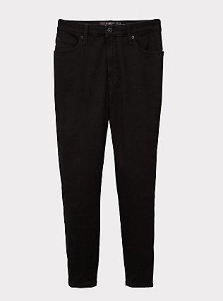 Crop Sky High Skinny Jean - Premium Stretch Black, BLACK, flat