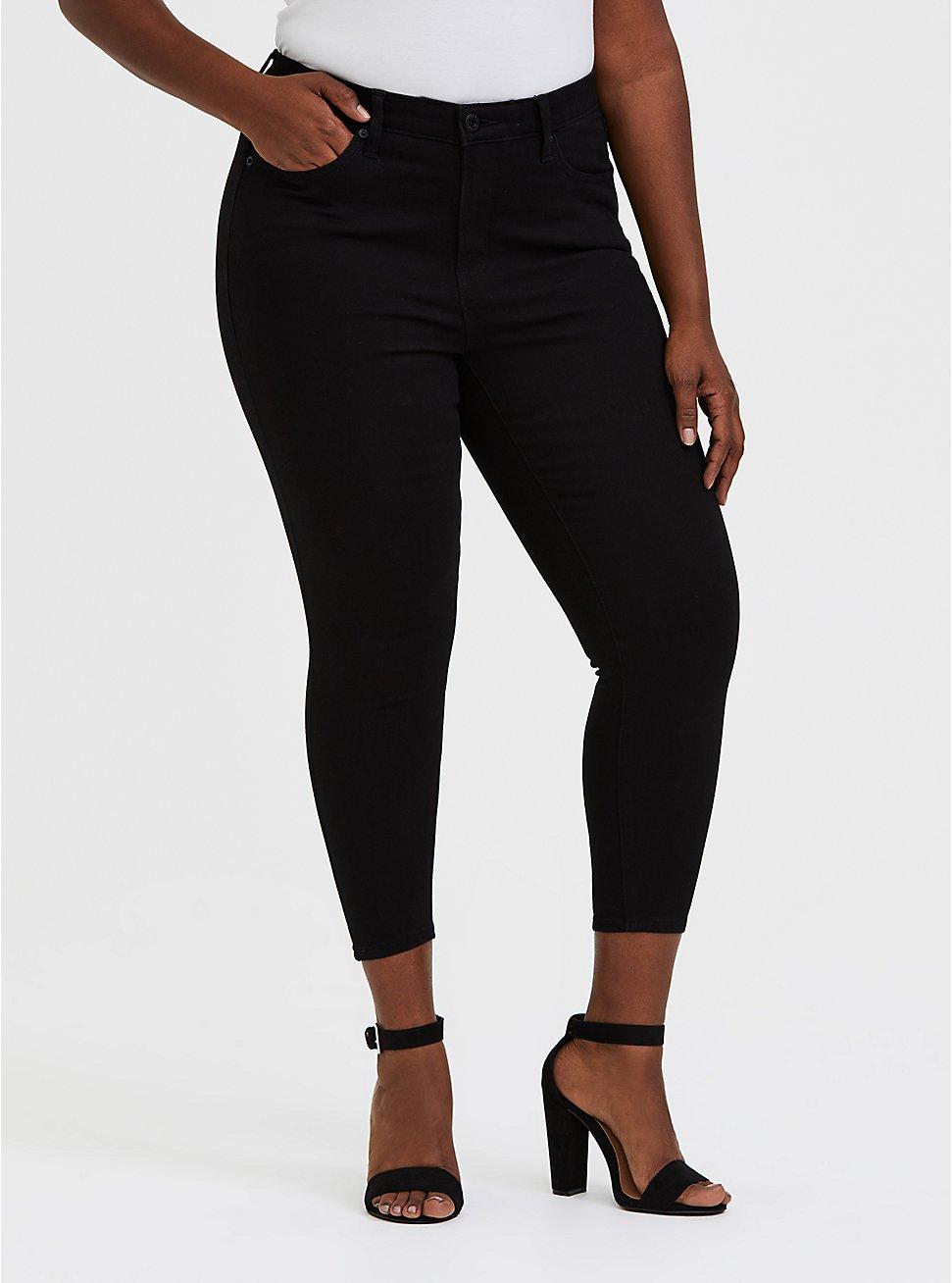 Crop Sky High Skinny Jean - Premium Stretch Black, , fitModel1-hires