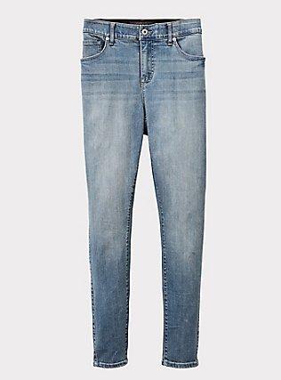 Bombshell Skinny Jean - Premium Stretch Light Wash, FAIRLIGHT, flat