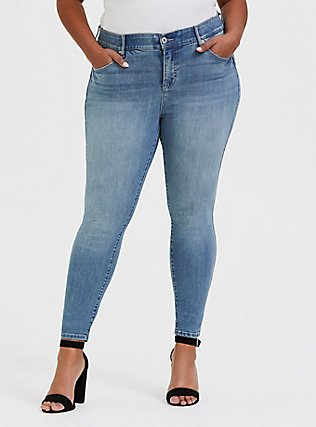 Bombshell Skinny Jean - Premium Stretch Light Wash, FAIRLIGHT, hi-res
