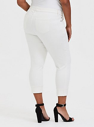 Plus Size Crop Boyfriend Jean - Vintage Stretch White, FRENCH VANILLA, alternate