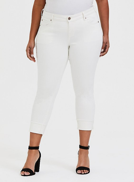 Crop Boyfriend Jean - Vintage Stretch White, , hi-res