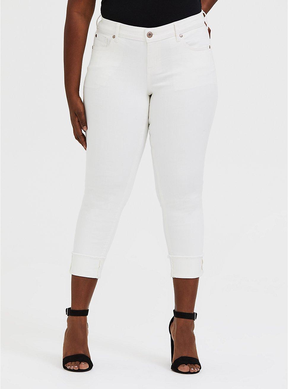Crop Boyfriend Jean - Vintage Stretch White, , fitModel1-hires