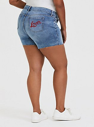 Midi Short - Vintage Stretch Dark Wash with Lover Pocket, SLOW MOTION, hi-res