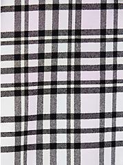 Pink Plaid Flannel Hooded Anorak, PLAID, alternate