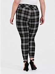 Studio Ponte Slim Fix Pull-On Pixie Pant - Black & Yellow Plaid, PLAID - YELLOW, alternate