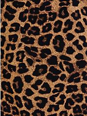 Leopard Crepe Self Tie Wide Leg Pant, LEOPARD, alternate