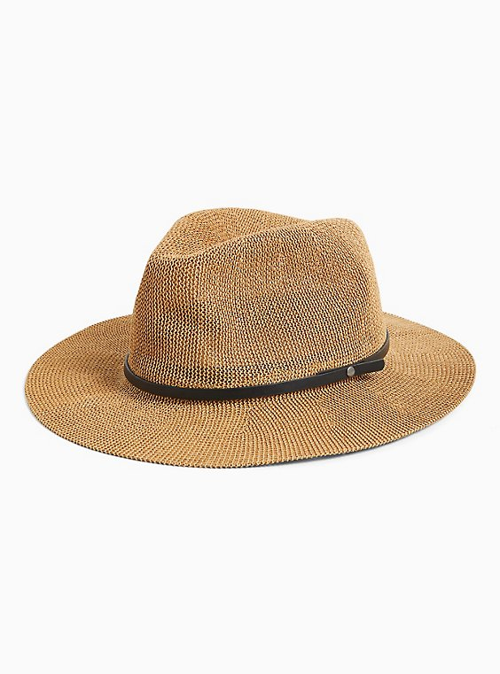 Tan Straw Hat, , hi-res
