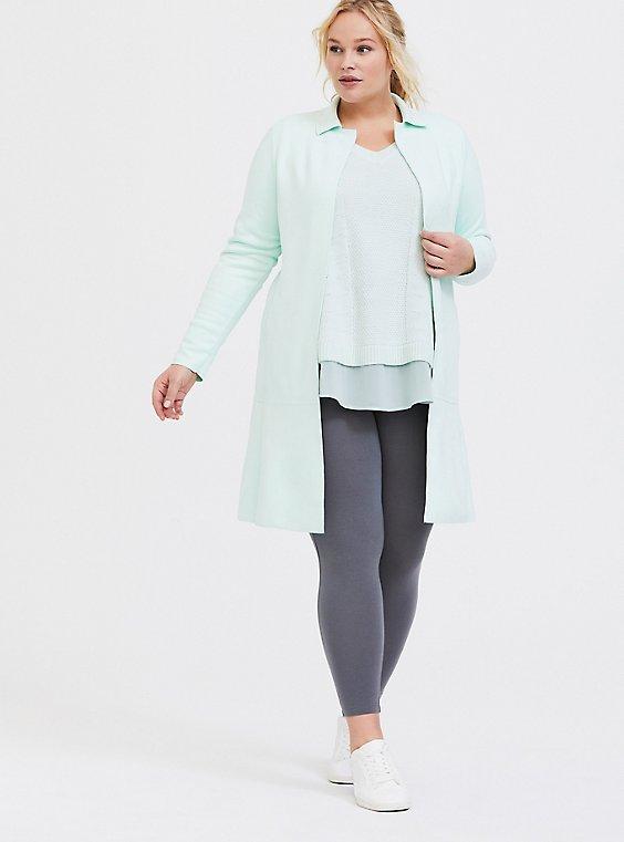 Plus Size Premium Legging - Grey, , hi-res