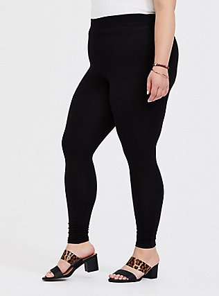 Premium Legging - Shirred Hem Black, BLACK, alternate