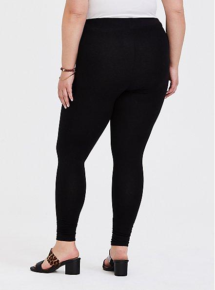 Premium Legging - Ruched Hem Black, BLACK, alternate