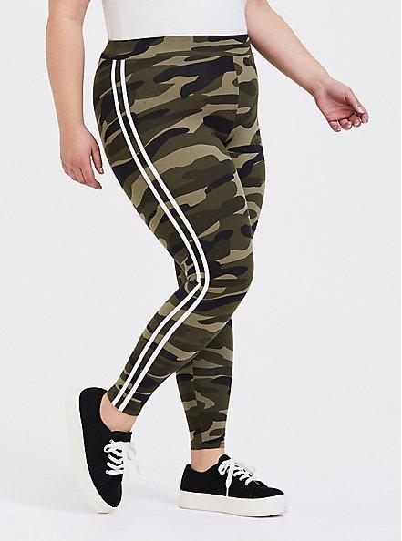 Premium Legging - Stripe White & Camo, CAMO, alternate