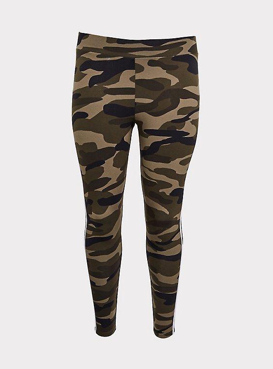 Premium Legging - Stripe White & Camo, , flat