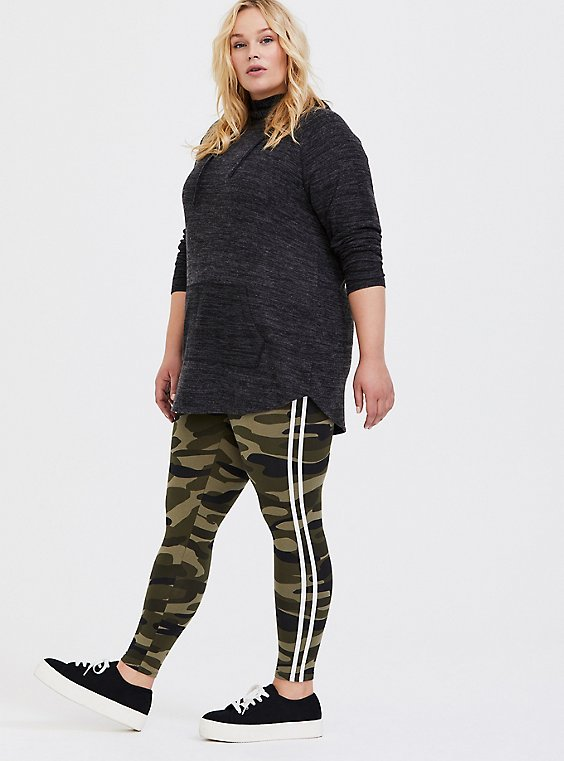 Premium Legging - Stripe White & Camo, , hi-res
