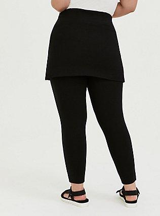 Premium Legging - Skirted Waist Black, BLACK, alternate