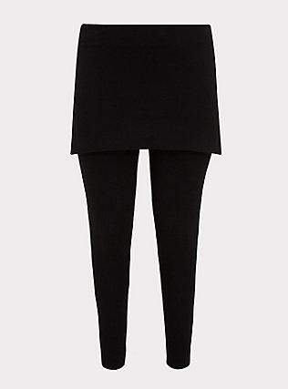 Premium Legging - Skirted Waist Black, BLACK, flat