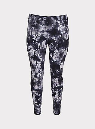 Crop Premium Legging - Tie-Dye Black, MULTI, flat