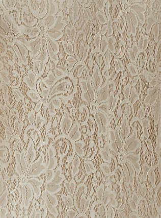 Ivory Lace Scalloped Duster, CLOUD DANCER, alternate
