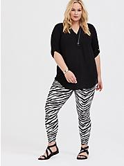 Platinum Legging - Liquid Zebra, ZEBRA - BLACK, hi-res