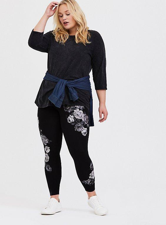 Premium Legging - Floral Black, MULTI, hi-res