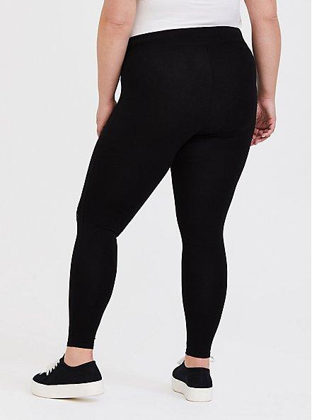 Premium Legging - Cat Knee Black, BLACK, alternate