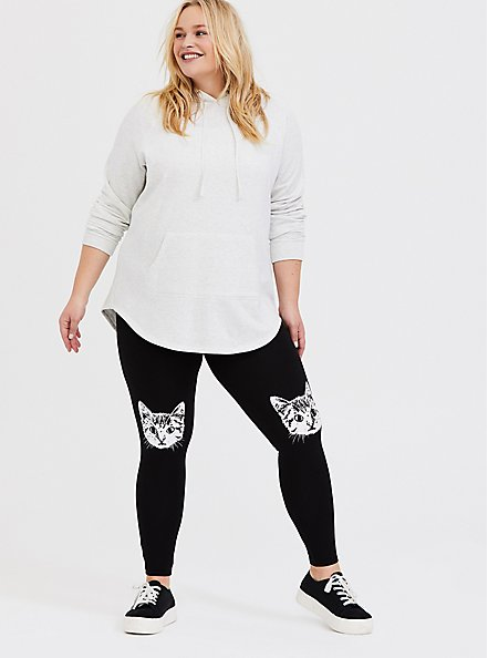 Premium Legging - Cat Knee Black, BLACK, hi-res