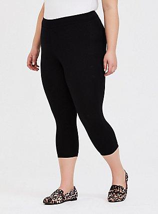 Capri Slim Fix Premium Legging - Black, BLACK, alternate