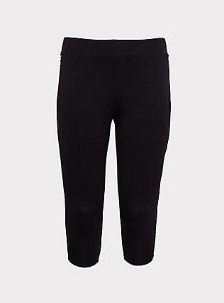 Capri Slim Fix Premium Legging - Black, BLACK, flat
