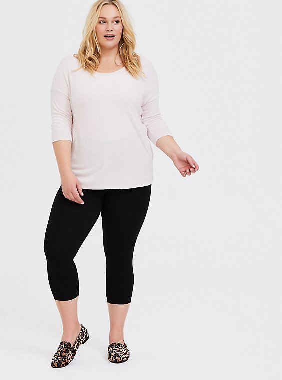 Plus Size Capri Slim Fix Premium Legging - Black, , hi-res