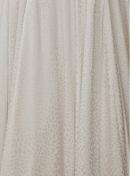 White Leopard Satin Strapless Wedding Dress, BRIGHT WHITE, alternate
