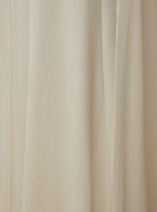 Ivory Chiffon Cape Sleeve Wedding Dress, CLOUD DANCER, alternate