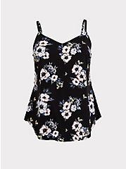 Ava - Black Floral Challis Cami, MULTI, hi-res