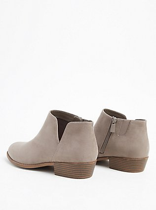 Taupe Faux Suede V-Cut Ankle Boot (WW), TAN/BEIGE, alternate