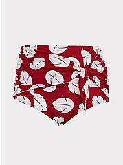 Disney Lilo & Stitch Red & White Leaf High Waist Tie Front Swim Bottom, MULTI, hi-res
