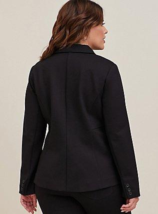 Black Premium Ponte Tailored Blazer, DEEP BLACK, alternate