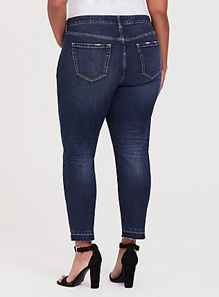 Plus Size High Rise Straight Jean - Vintage Stretch Dark Wash with Released Hem, MINESHAFT, alternate