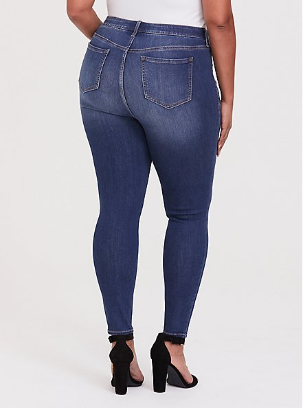 Plus Size Sky High Skinny Jean - Premium Stretch Medium Wash, BRIGHTON, alternate