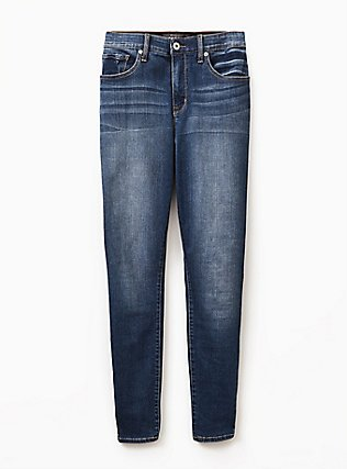 Sky High Skinny Jean - Premium Stretch Medium Wash, BRIGHTON, flat