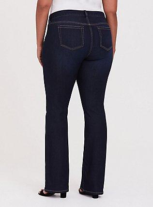 Slim Boot Jean - Vintage Stretch Dark Wash , CANARY WHARF, alternate
