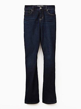 Slim Boot Jean - Vintage Stretch Dark Wash , CANARY WHARF, flat